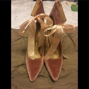 Penny Loves Kenny pink bow tie pumps SZ 9 new